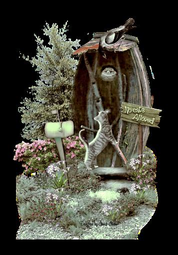 Embellishment Cluster Birdhouse Scene