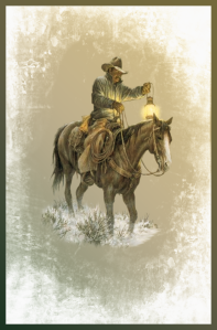 Winter Scene Cowboy