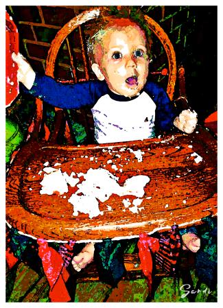 Phinehas celebrating his first birthday