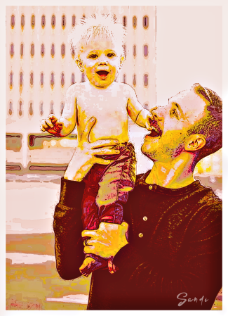 Phinehas with his dad, Brandon