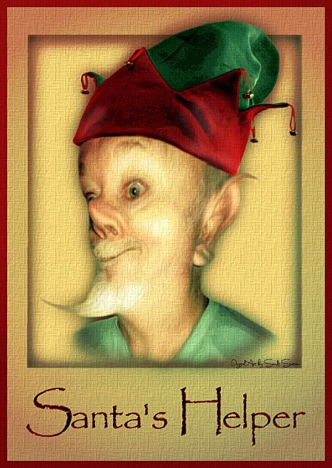 Caricature Hubby Santa's Helper